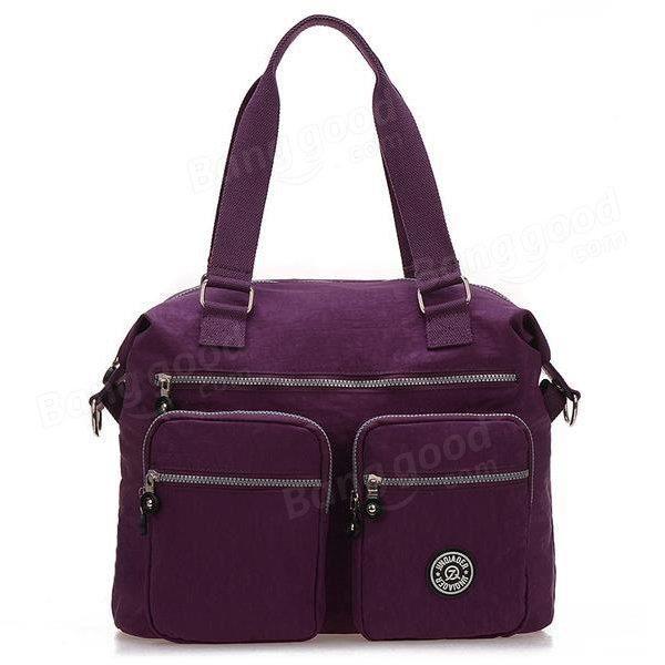 SBBKO3363Femmes sacs à main en nylon occasionnels sacs à bandoulière imperméable poche multiples crossbody extérieure sacs Violet