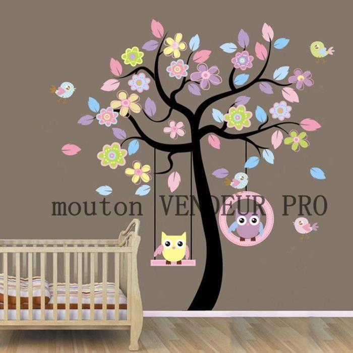 Stickers muraux Enfant arbre et hibou