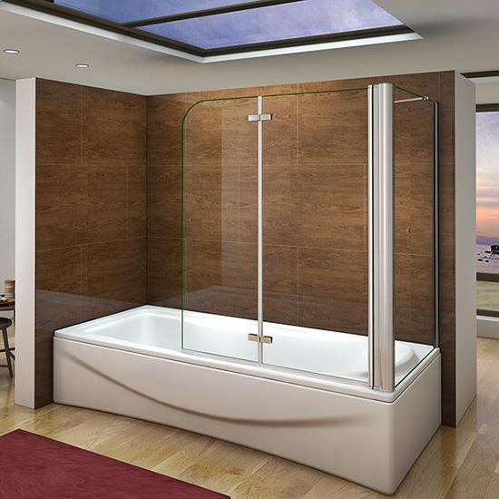 pare baignoire 100x140cm paroi de douche fixe 70x140cm. Black Bedroom Furniture Sets. Home Design Ideas