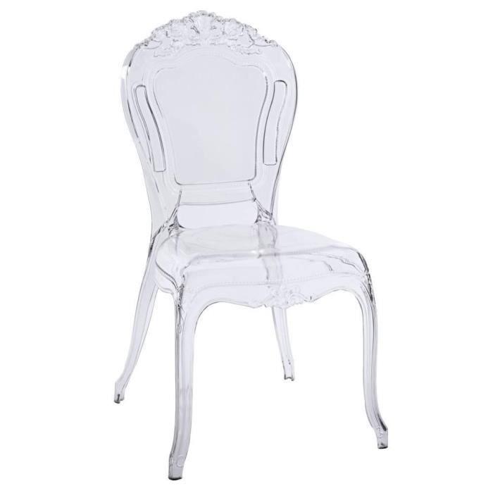 CHAISE Chaise Design NAPOLEON En Polycarbonate Transparen