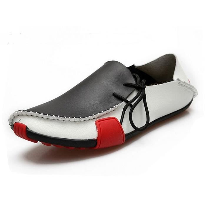 AFFINEST Chaussures Homme Bateau Boat shoes Blanc YJNfxIr