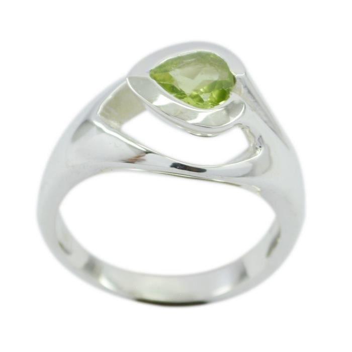 grossiste 425df 9108b Bague péridot - anneau vert - bague en argent - anneau d'argent vert