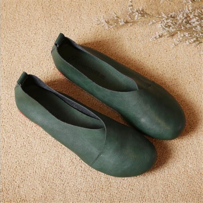 femme Chaussure Haut qualité De Marque De Luxe Poids Léger Moccasins plates Classique Confortable Grande Taille