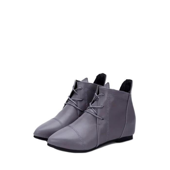 Bottes de cheville de femmes style bref Trendy Tous Pointu Assorti Toe Comfy Chaussures plates 9396348