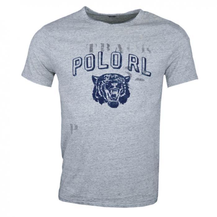 T shirt col rond Ralph Lauren POLO gris pour homme Couleur: Gris Taille: L