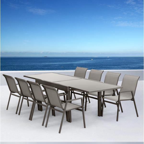 Salon de jardin aluminium Marbella - Achat / Vente salon de jardin ...