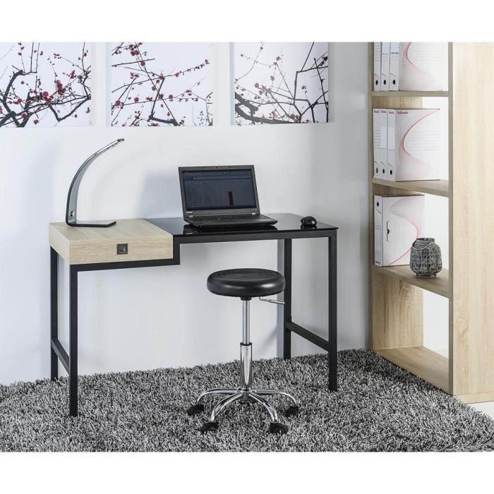 TWIN Bureau 120cm Noir Achat Vente bureau TWIN Bureau 120cm