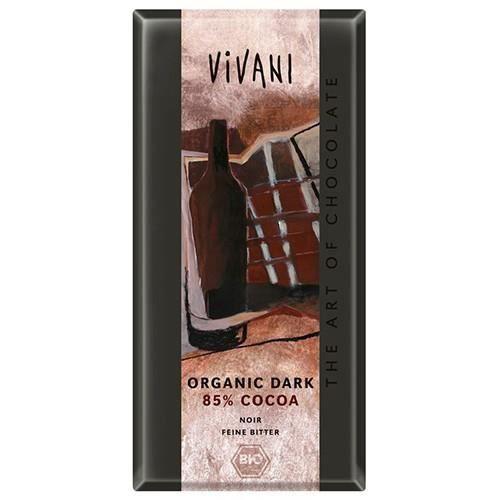 CACAO - CHOCOLAT Vivani noir avec 85% de cacao au chocolat 100 g