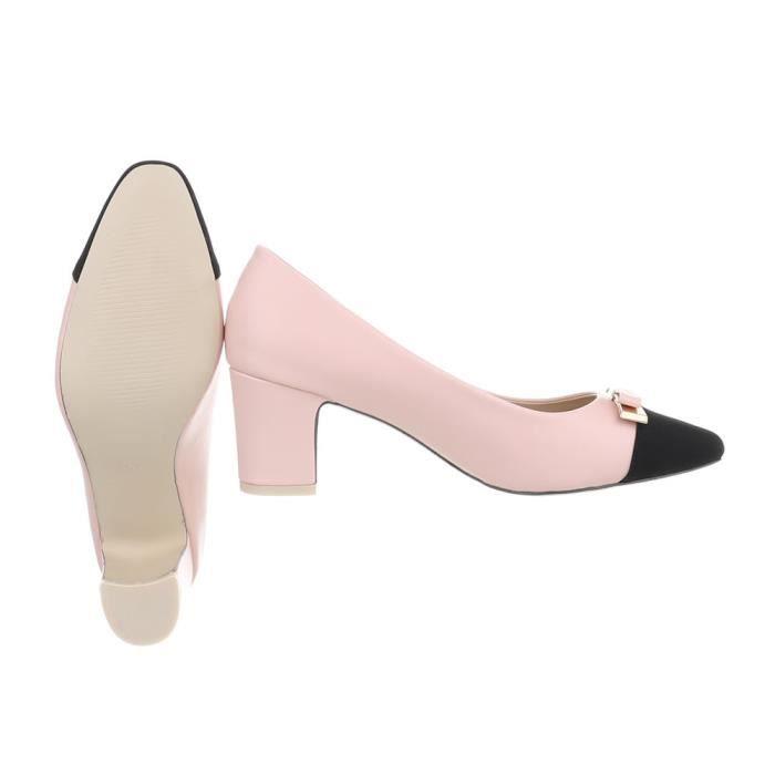 femmes chaussures escarpin classique rose noir 36