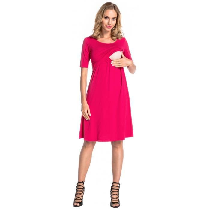 Happy Mama. Femme Robe Patineuse dAllaitement Maternité Double Couches. 511p