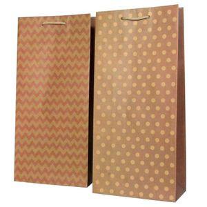 TIRE-BOUCHON Pochette cadeau kraft Design - Pour 2 bouteilles