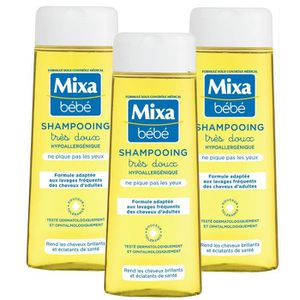 MIXA BEBE Pack Shampoing hypoallergénique 250ml x3