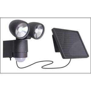 VOLTMAN Projecteur solaire LED - 2 T?tes Walle - Avec détecteur de mouvement - IP44