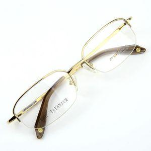7b0f67303f5dc1 Monture lunettes de vue Titanium demi cerclée Doré - Achat   Vente ...