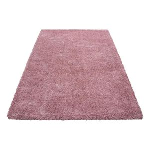 Tapis Shaggy Rose Achat Vente Tapis Shaggy Rose Pas Cher Cdiscount