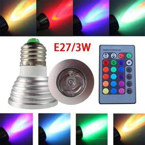 AMPOULE - LED E27 Ampoule Spot LED RGB 3W + Télécommande