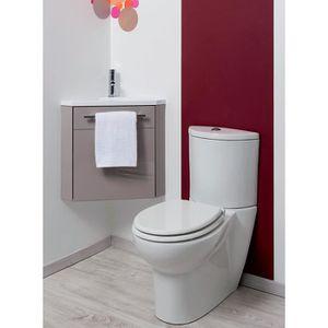 MEUBLE VASQUE - PLAN Meuble lave-mains à suspendre d'angle Ninon Taupe