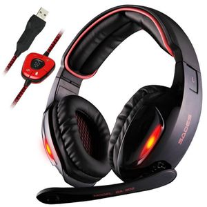 CASQUE  - MICROPHONE Casque Gamer pour PC, Laptop SA-902 USB Gaming Hea