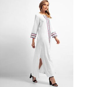 ROBE Mode femmes brodent à manches longues islamique Mo