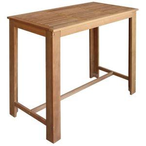 d0670f1d85ca4c MANGE-DEBOUT Table de bar Bois d acacia massif 120 x 60 x 105