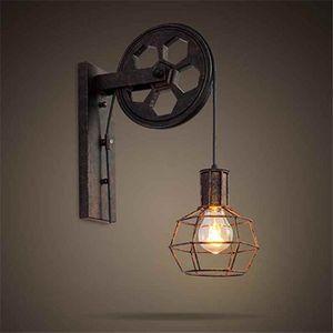 APPLIQUE  Retro poulie Luminaires de lampe mural parapluie n