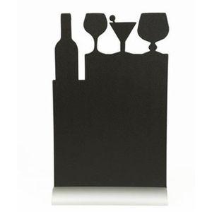 CHEVALET DE TABLE Silhouette de table avec socle aluminium COCKTAIL