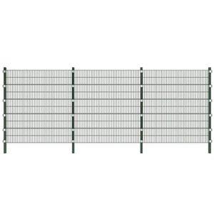 CLÔTURE - GRILLAGE Set de Panneaux de Clôture 6 x 2 m Vert foncé pour