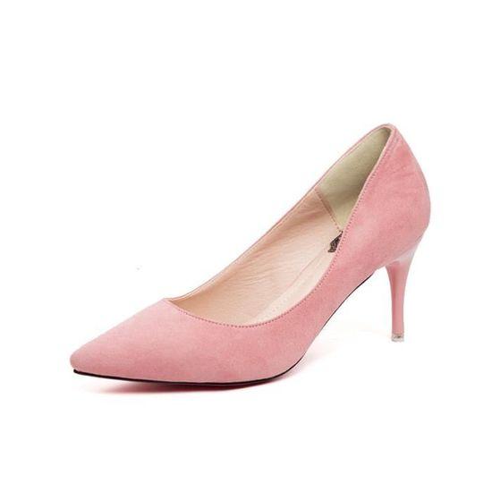À Chaussures Femme Talons Rose Escarpins 3AL5cSqj4R