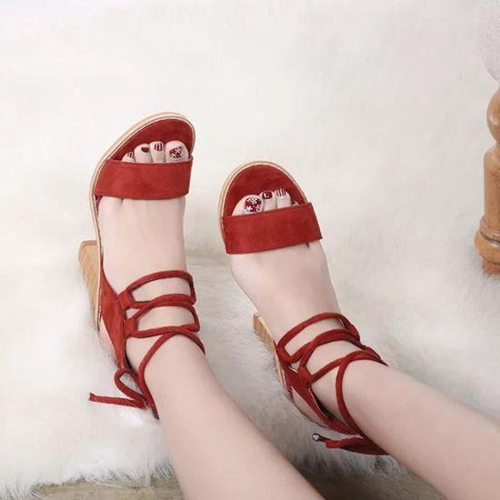 Printemps mode sangles sandales femmes pompes talons hauts chaussures femmes chaussures@Du vin  Du vin - Achat / Vente escarpin