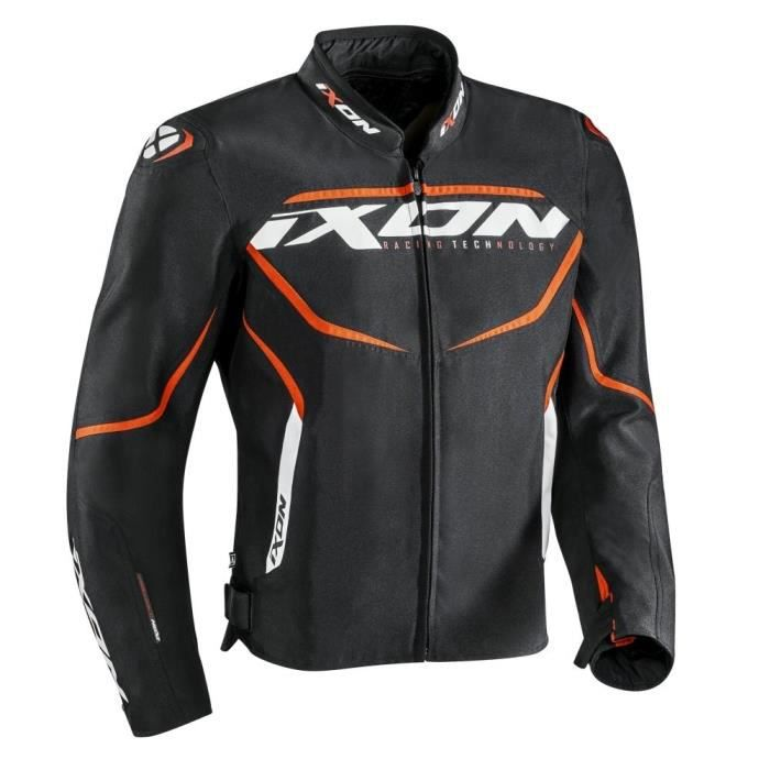 IXON Blouson de moto Sprinter - Noir / Orange
