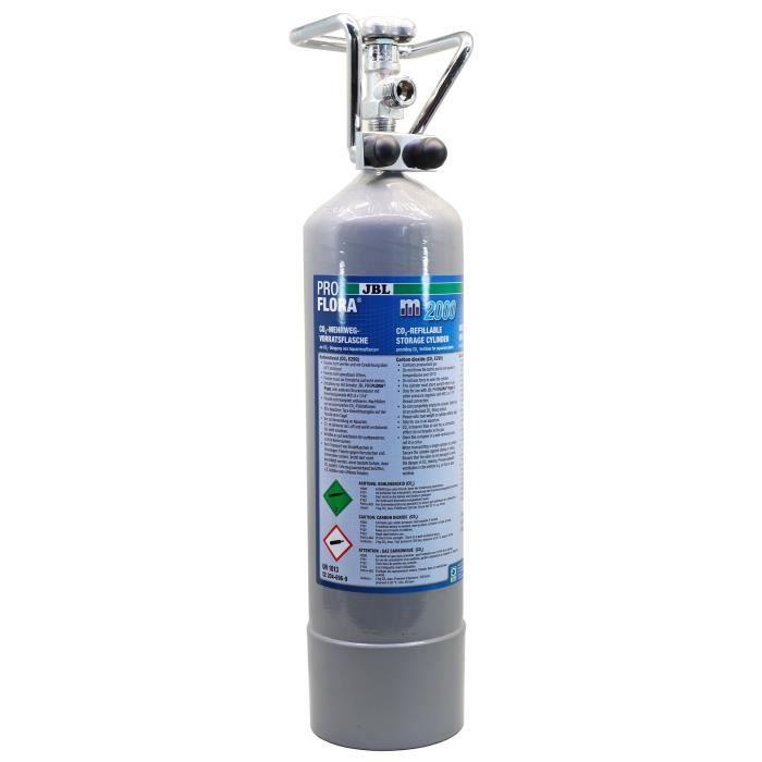 JBL Bouteille de CO2 réutilisable Proflora M2000 Silver - Pour plantes d'aquarium - 2000g