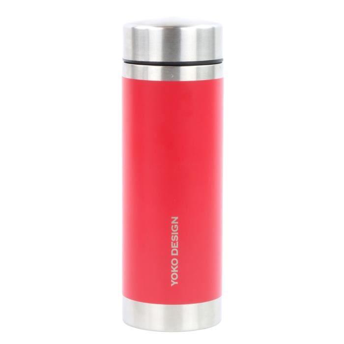 YOKO DESIGN Théiére isotherme 350 ml rouge à double paroi en inox