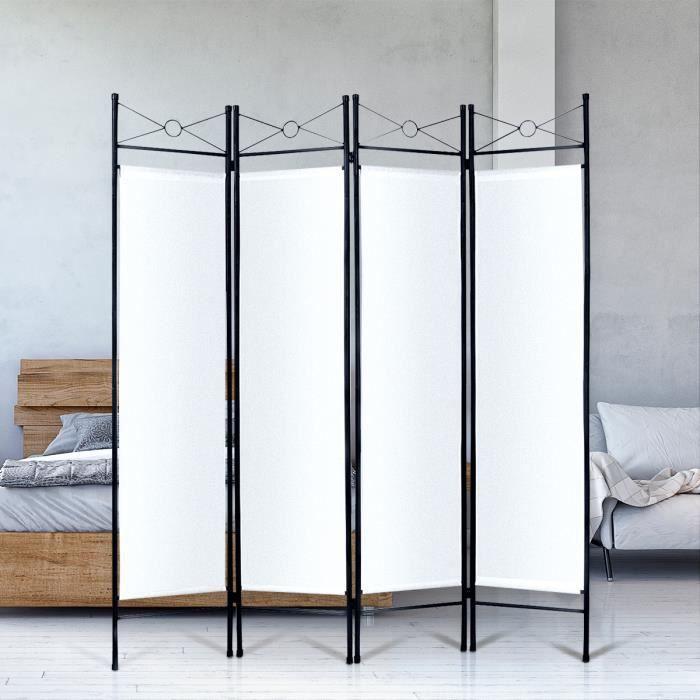 paravent s paration de pi ces en fer cloison amovible avec. Black Bedroom Furniture Sets. Home Design Ideas