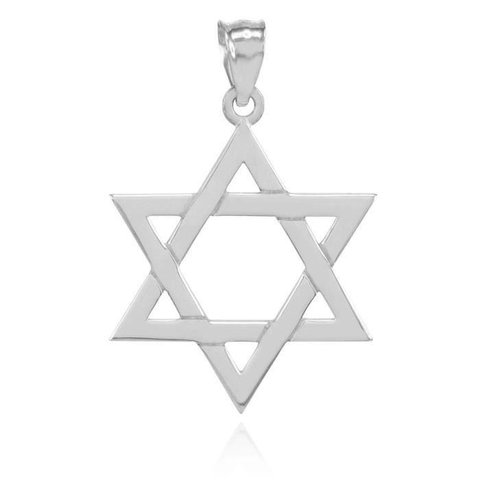 PendentifArgent 925/1000 Juive étoile de David Pendentif Charm