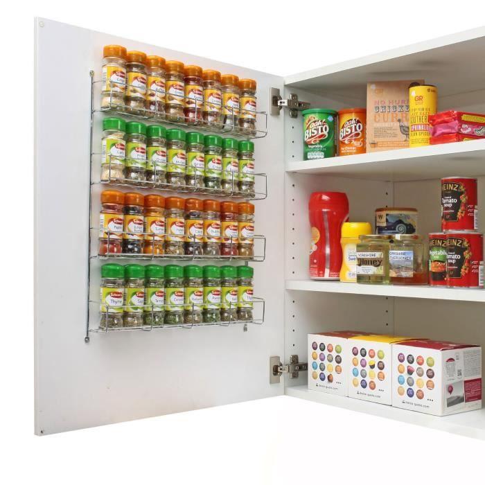 Rangement mural pour pices achat vente panier de placard rangement mural pour pices for Placard cuisine mural