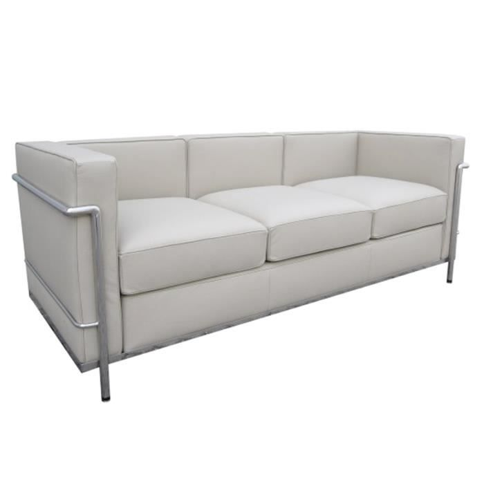 LC Le Corbusier Places Blanc Achat Vente Canapé Sofa - Canape cuir le corbusier