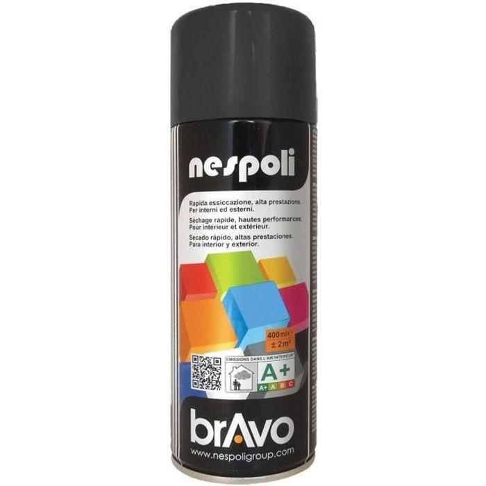 Nespoli Aérosol Peinture Professionnelle Noir Brillant - Achat