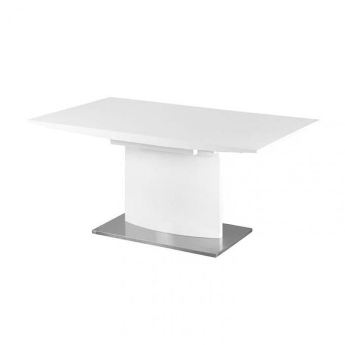 Table Design Extensible Concorde Laquee Blanc Achat Vente Table