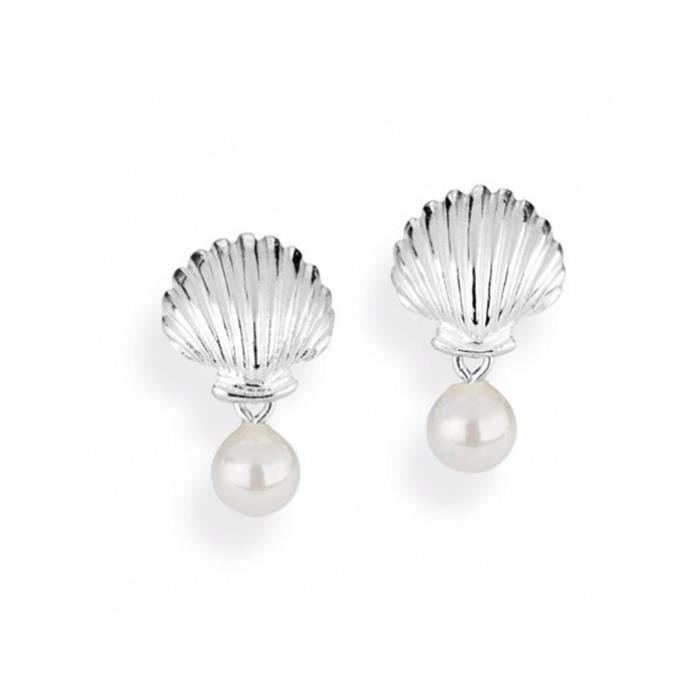 Heartbreaker - LD SL 22 PW - Boucles dOreille Femme - Argent 925-1000 - Perle synthétique