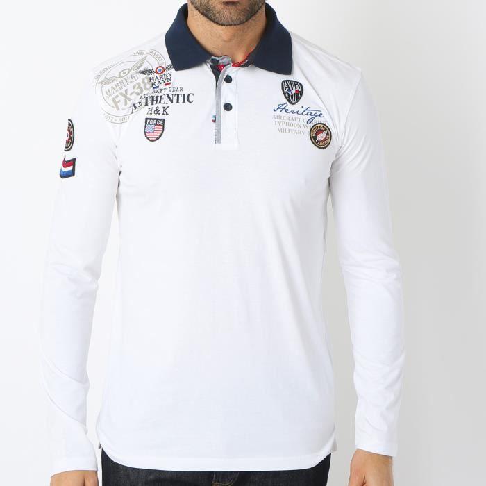 HARRY KAYN Polo Homme CEGAM Blanc
