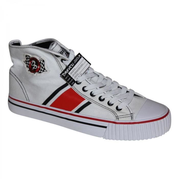 samples shoes HI TOP DRAVEN DUENE PETERS DRAGSTER RED WHITE