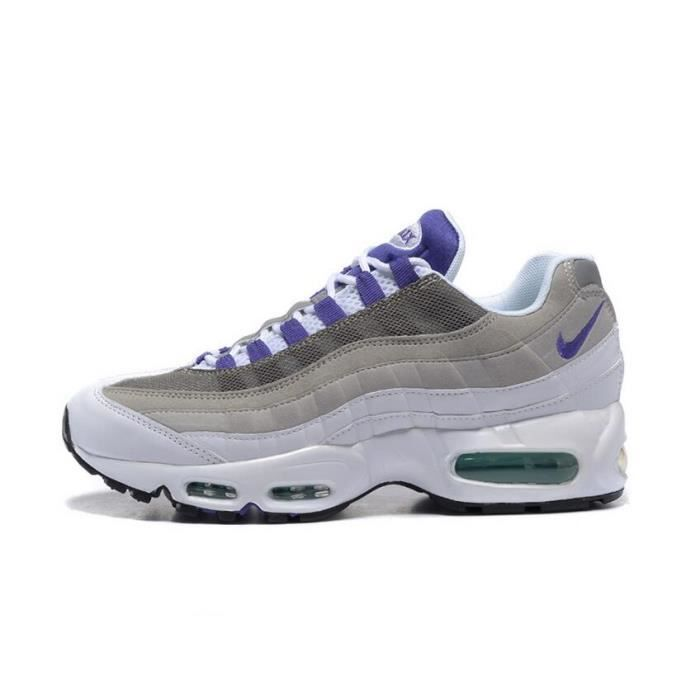 new concept 38421 f2698 ... coupon code for nike air max 95 ogqs homme running basket chaussure  blanc et violet b6e44