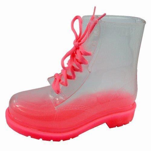 Mode féminine transparent et vente plat Ladies Bottes de pluie et la pluie bottillons Chaussures W63C0 Taille-40