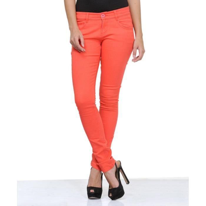 Blended Taille 34 Couleur Pantalon Des De Njlsp Femmes Rouge Nn8Owyv0m