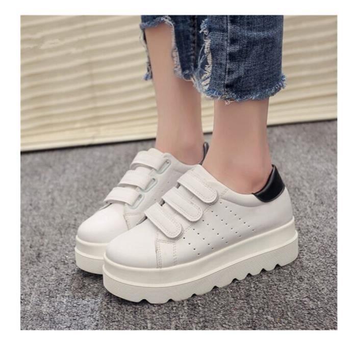 achat spécial haut fonctionnaire meilleure sélection Baskets compensées femme - LJX19715B-Blanc - chaussures à semellle épaisse  - Sneaker femme - baskets à semellle épaisse