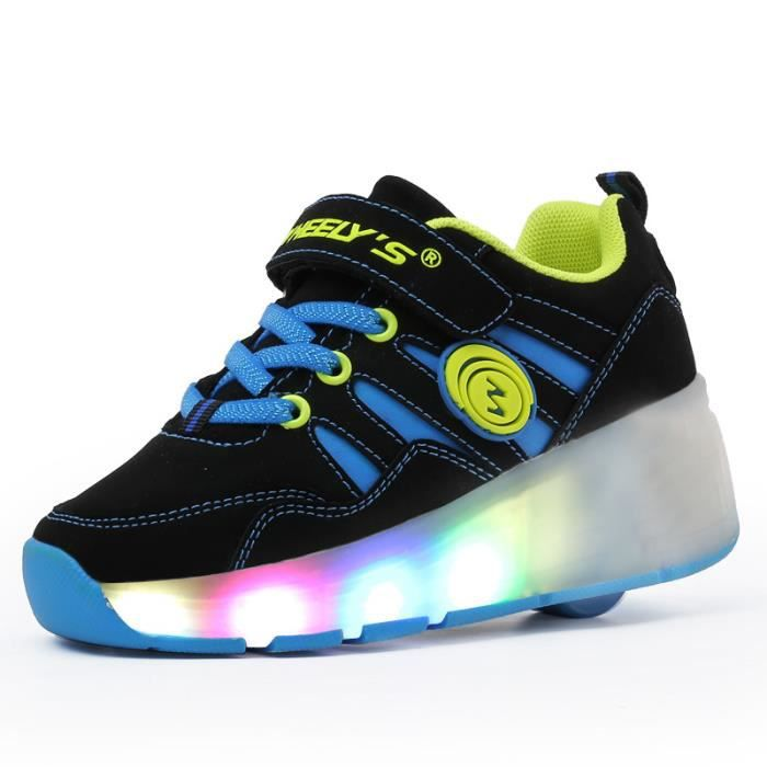 Husk'Sware® Heelys Chaussures LED Lumière Chaus...