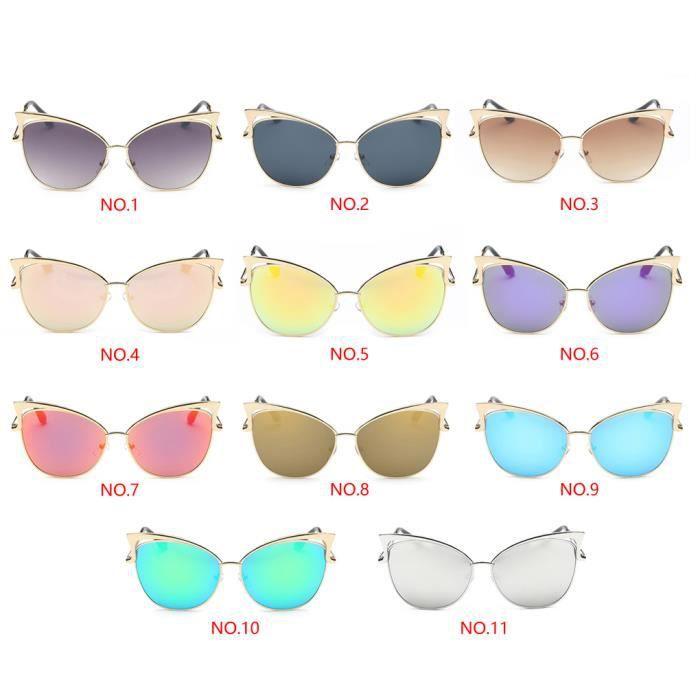 Cadre de film couleur des yeux de chat lunettes de soleil lunettes de protection UV400 de femmes NO.2