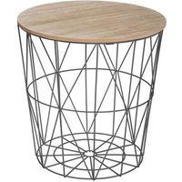 TABLE D'APPOINT Table à café Kumi - Métal - Noir