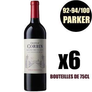VIN ROUGE X6 Château Corbin 2016 75 cl AOC Saint-Émilion Gra