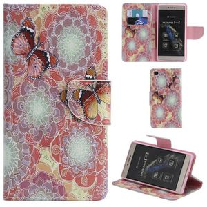 COQUE - BUMPER ® Huawei P8 Coque PU Leather Flip Cover Wallet Sta